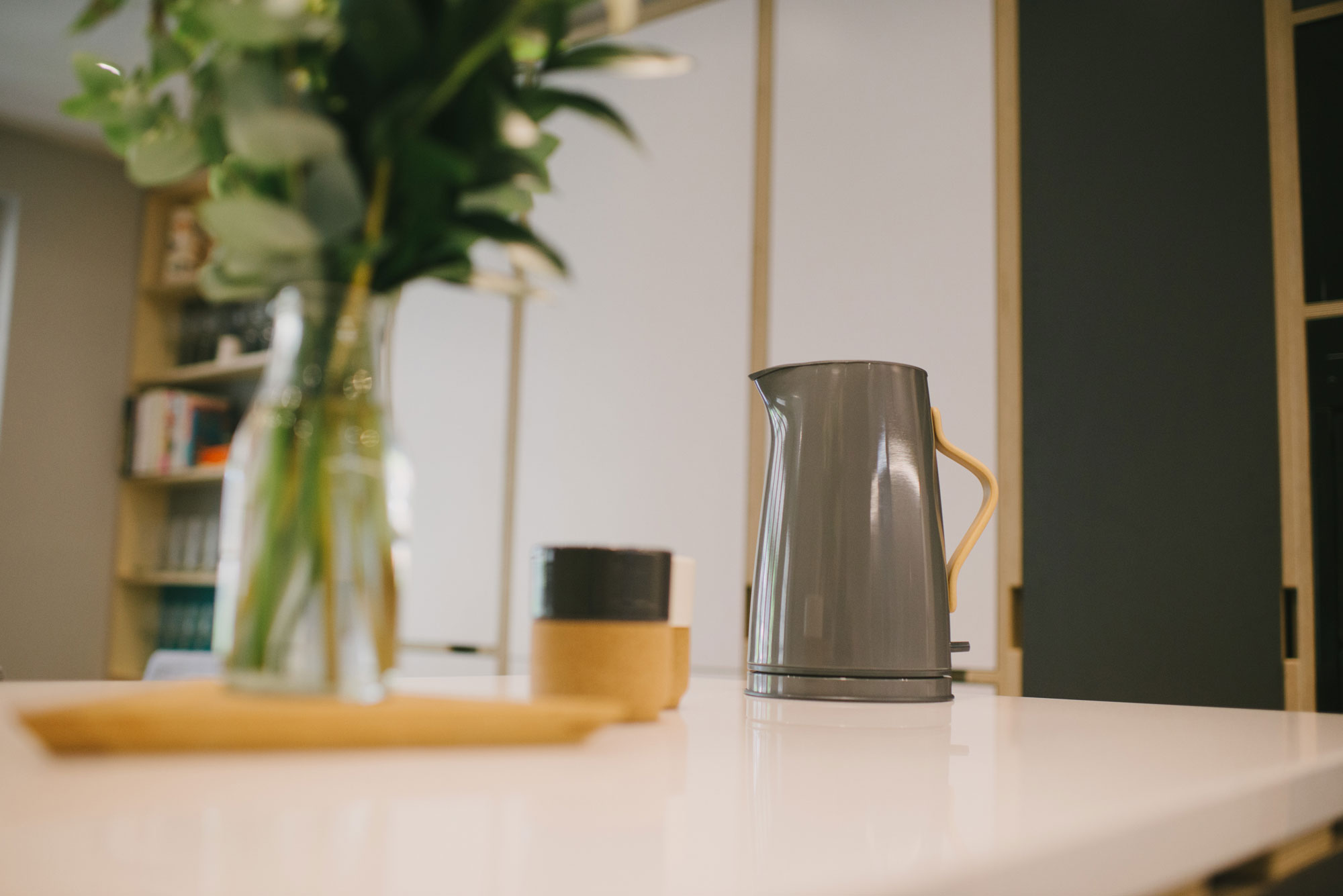 Grey Stelton Emma kettle and vase