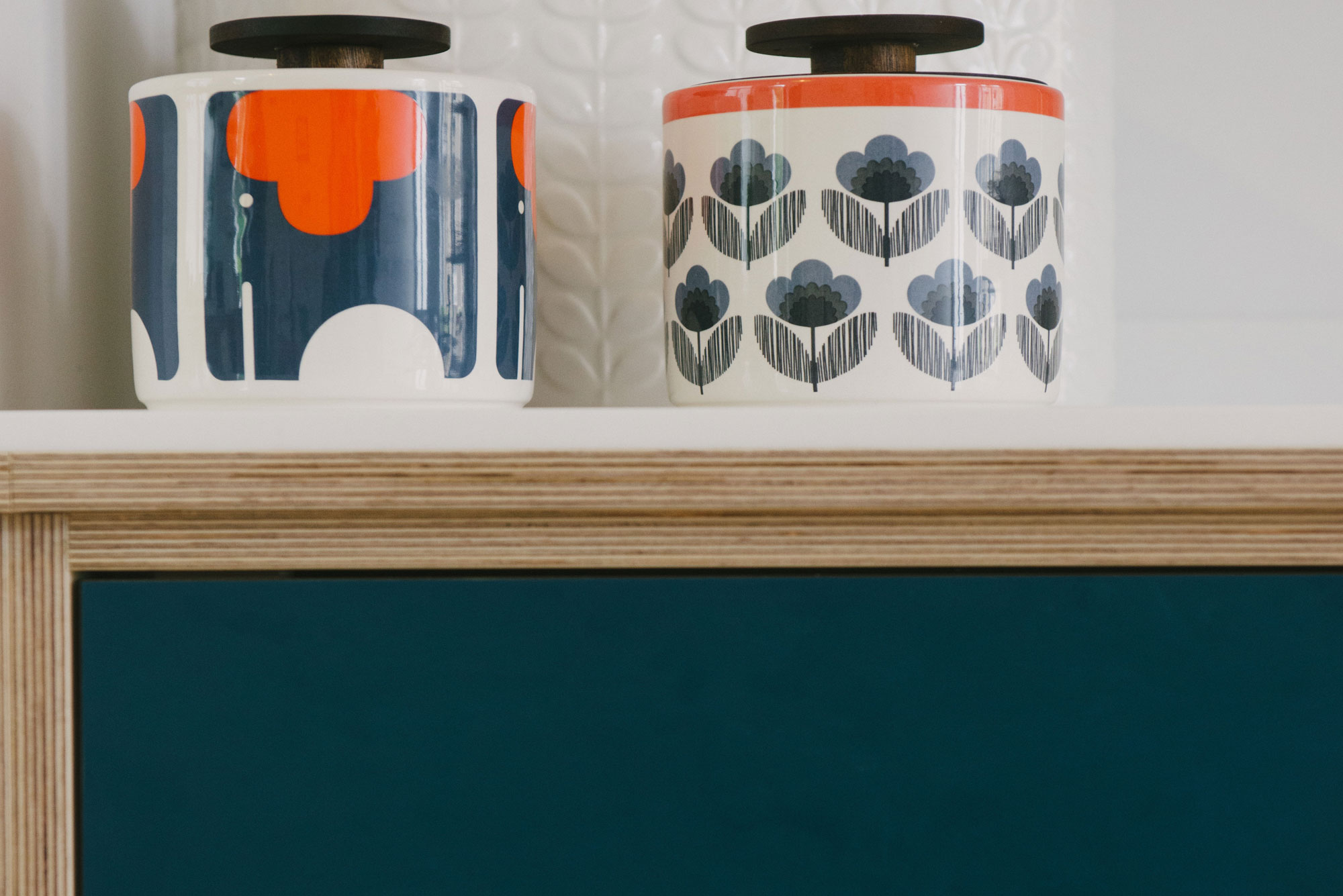 Storage Jars on corian worktop