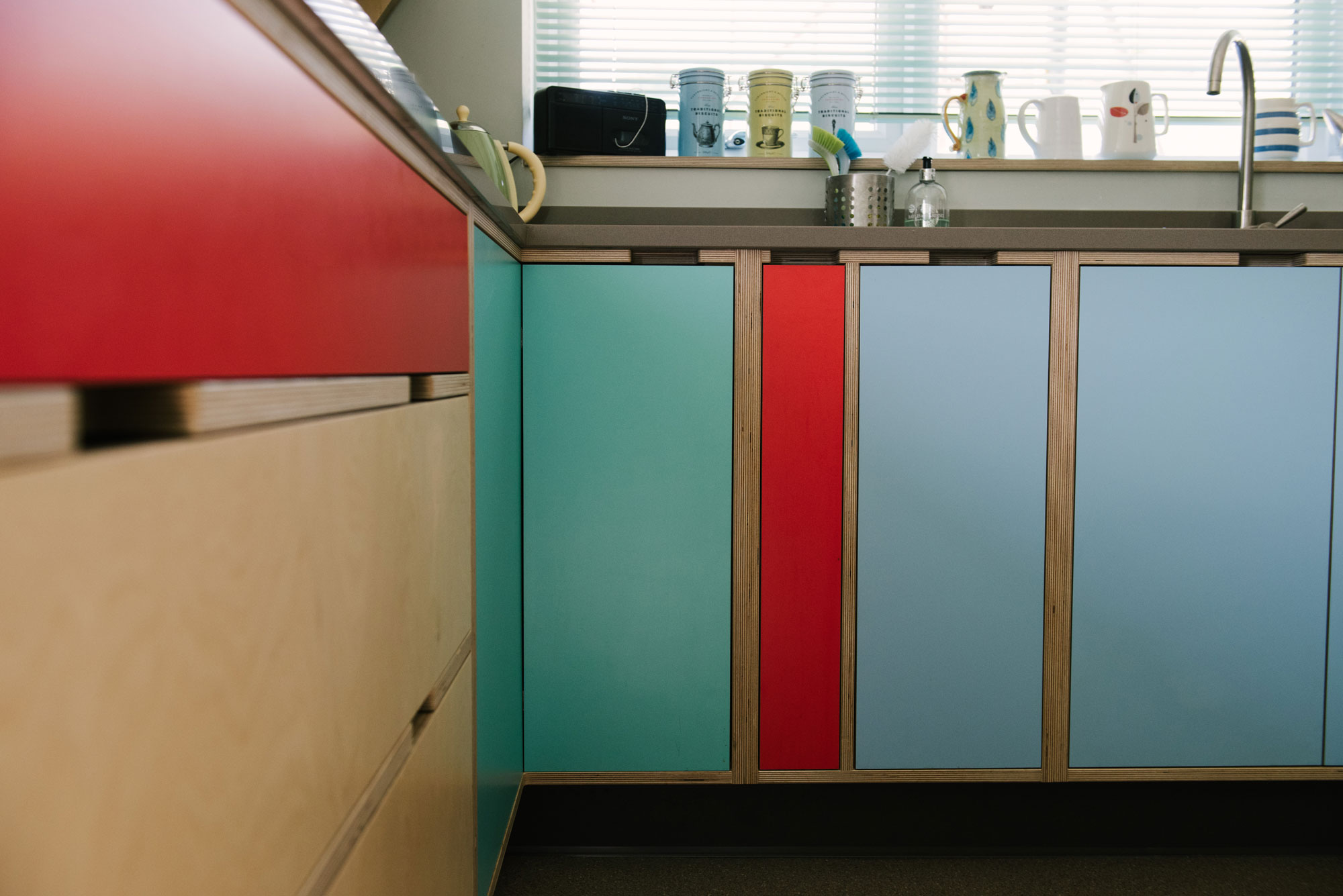 Retro Kitchen - Red and Blue Kitchen