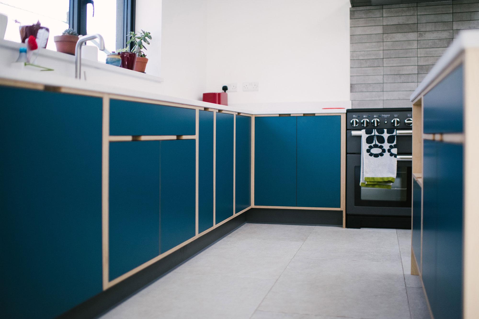 Modern Blue Kitchen Design