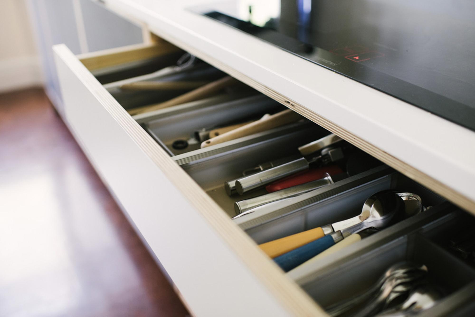 Handmade cutlery drawer