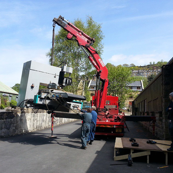 CNC getting delivered to the Wood & Wire workshop