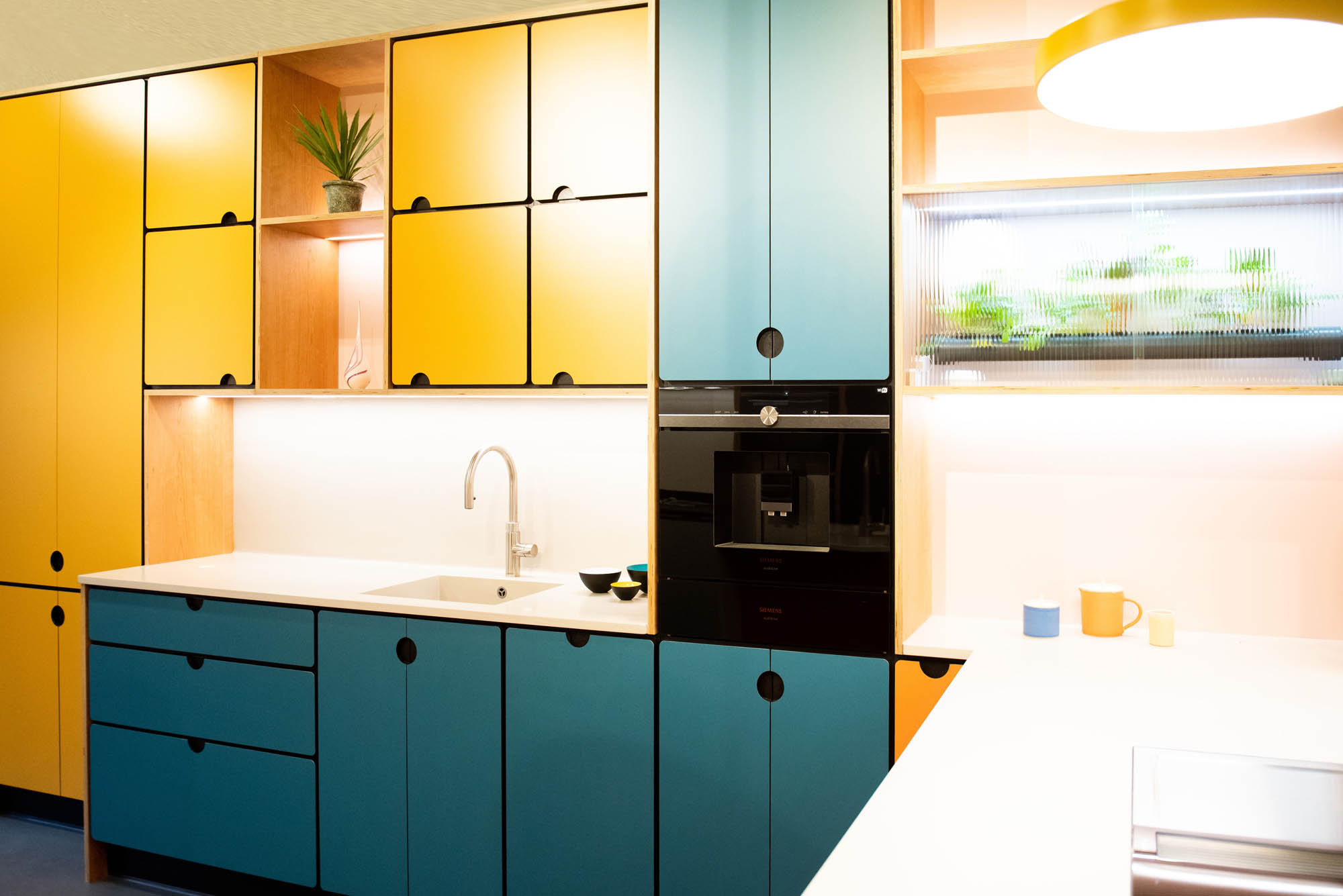 Valchromat Kitchen in yellow and blue colour
