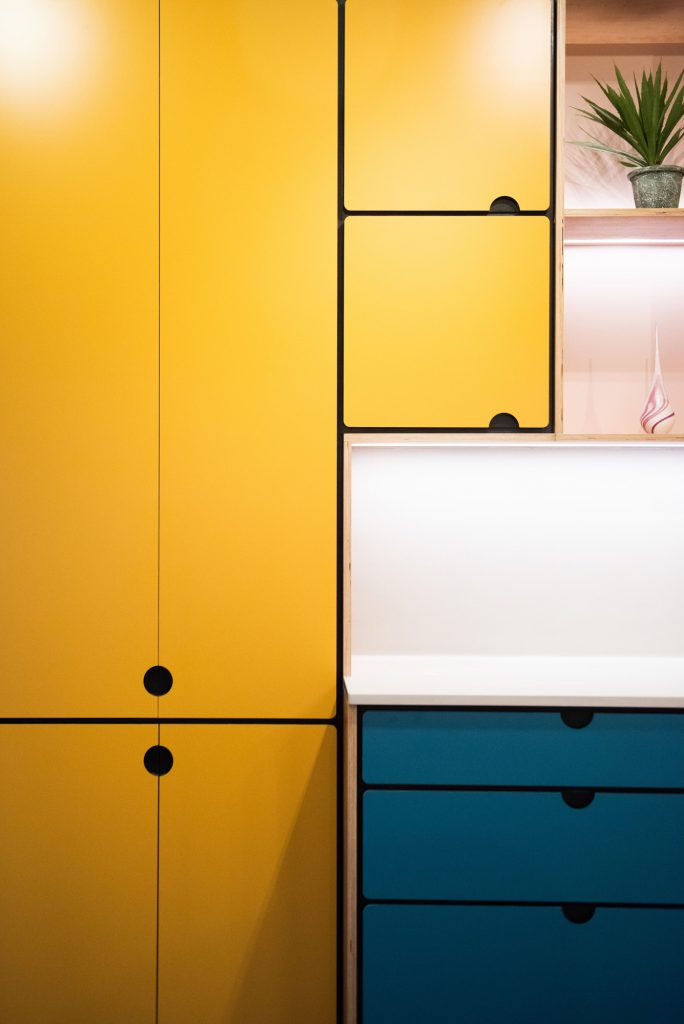 Valchromat Kitchen in bright yellow colour