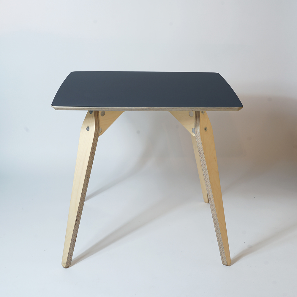 black plywood dining table