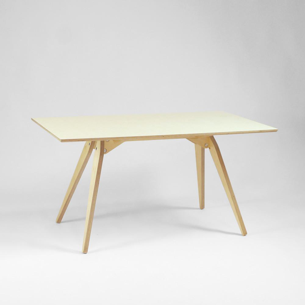 large plywood dining table