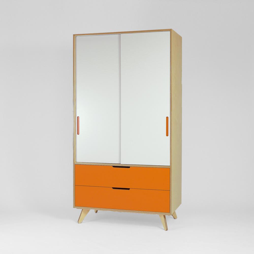 freestanding plywood wardrobe